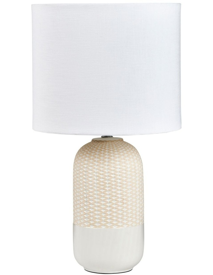 River Table Lamp White/Natural 30x54.5cm image 1