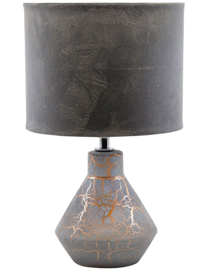 Crackle Table Lamp Grey 32cm image 1
