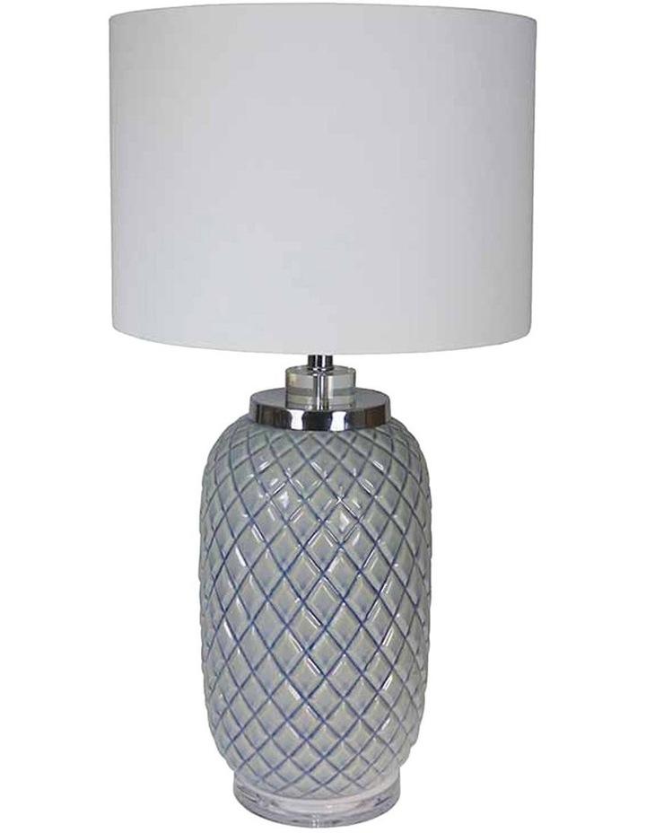 Pineapple Blue Lamp & Shade image 1