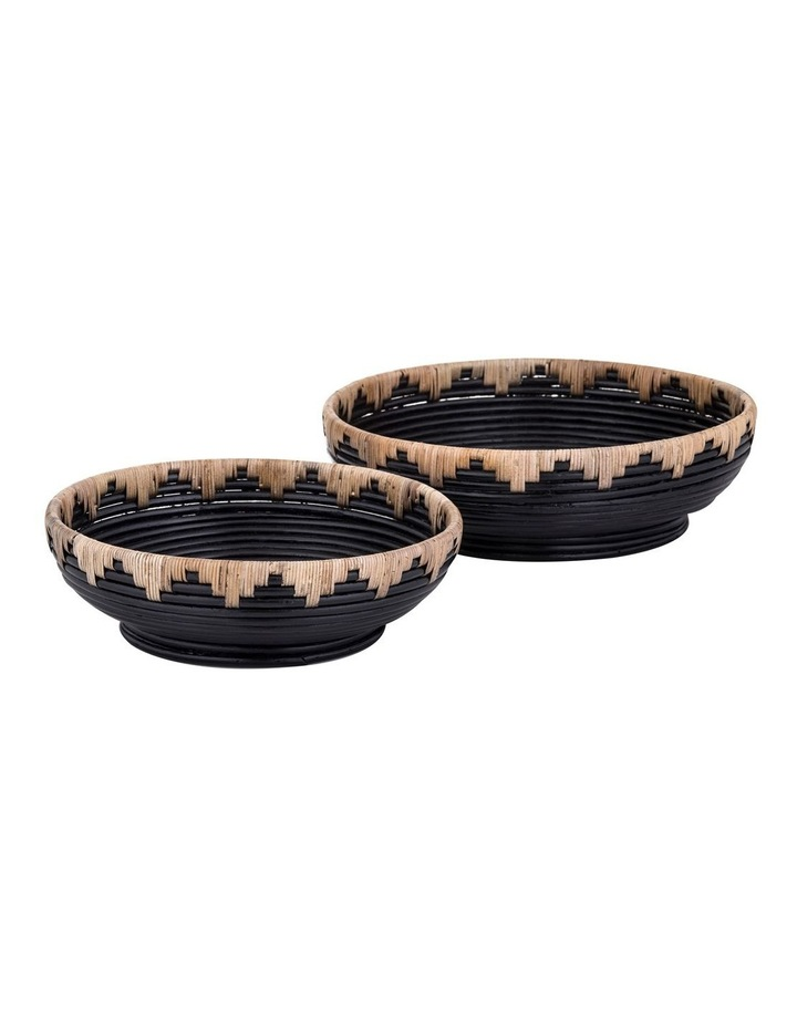 Amalfi Tanah Bowl Small Natural/Black 10x30cm image 1