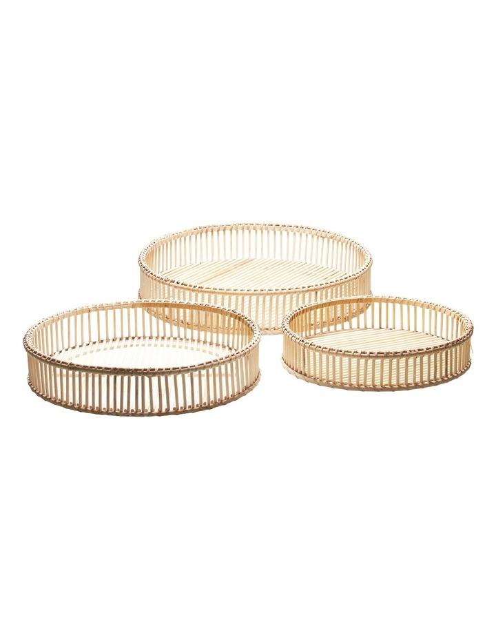 Rhythm Tray Basket Natural 3Pc Pack image 1