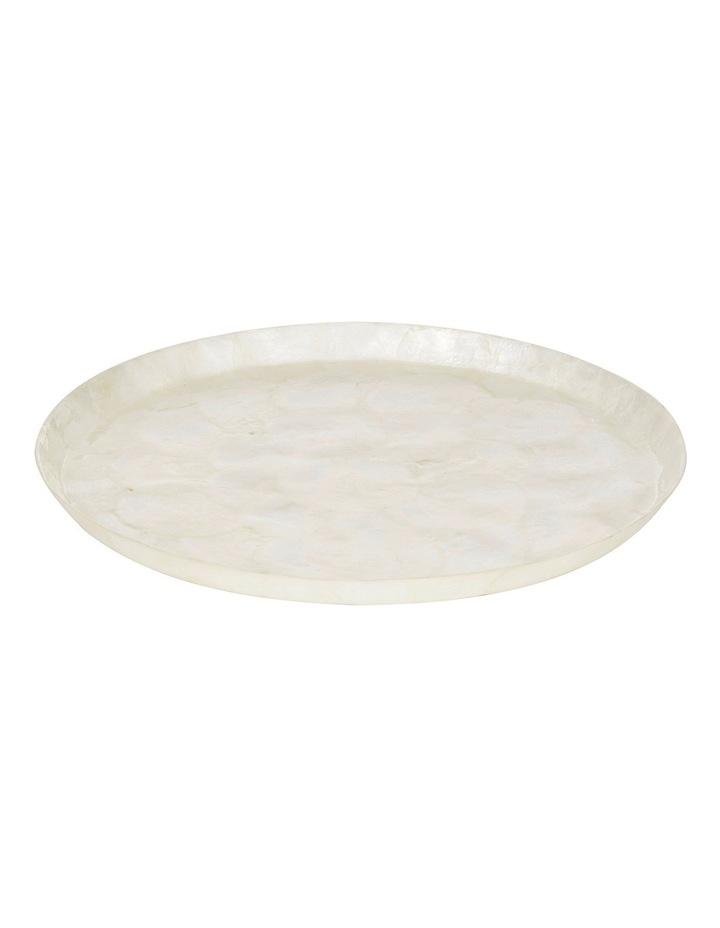 Amalfi Capiz Round Tray 34cm image 1