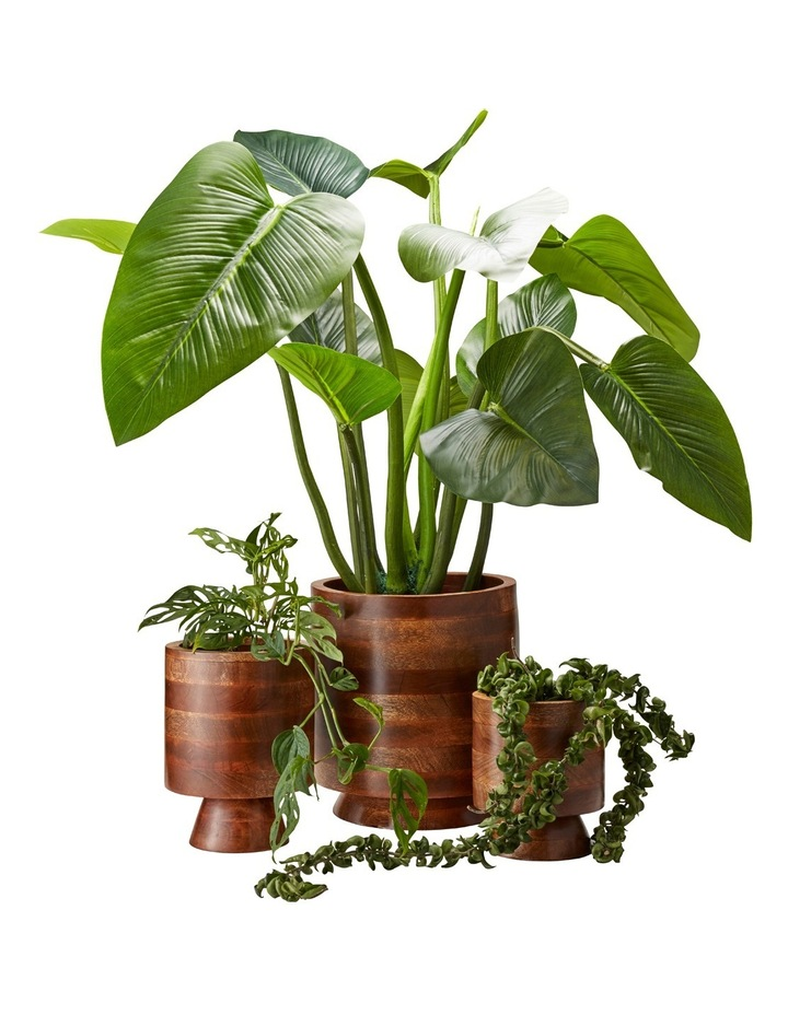 Maha Planter Wood 30x32cm image 3