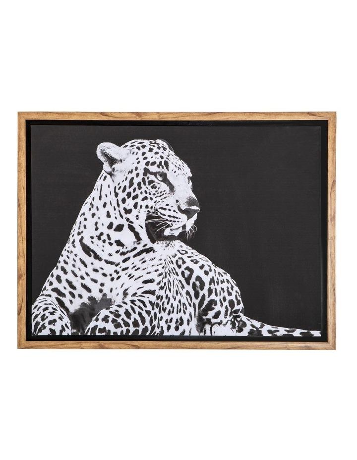 Wild Safari Leopard Wall Decor Black/White 60x80cm image 1