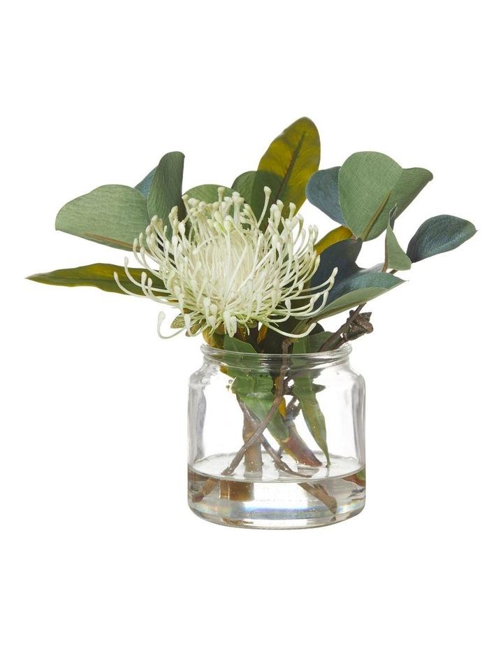 Pin Cushion Mix in Glass Jar Light Green 26x21x25cm image 1
