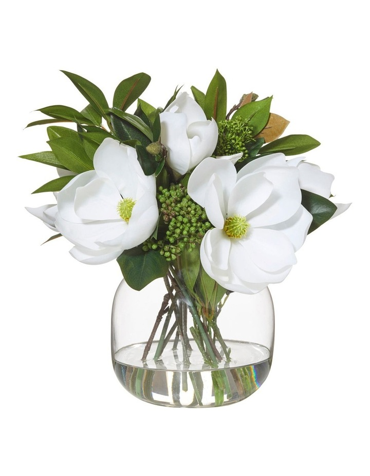 Magnolia Bouquet in Adina Vase White 30x28x34cm image 1