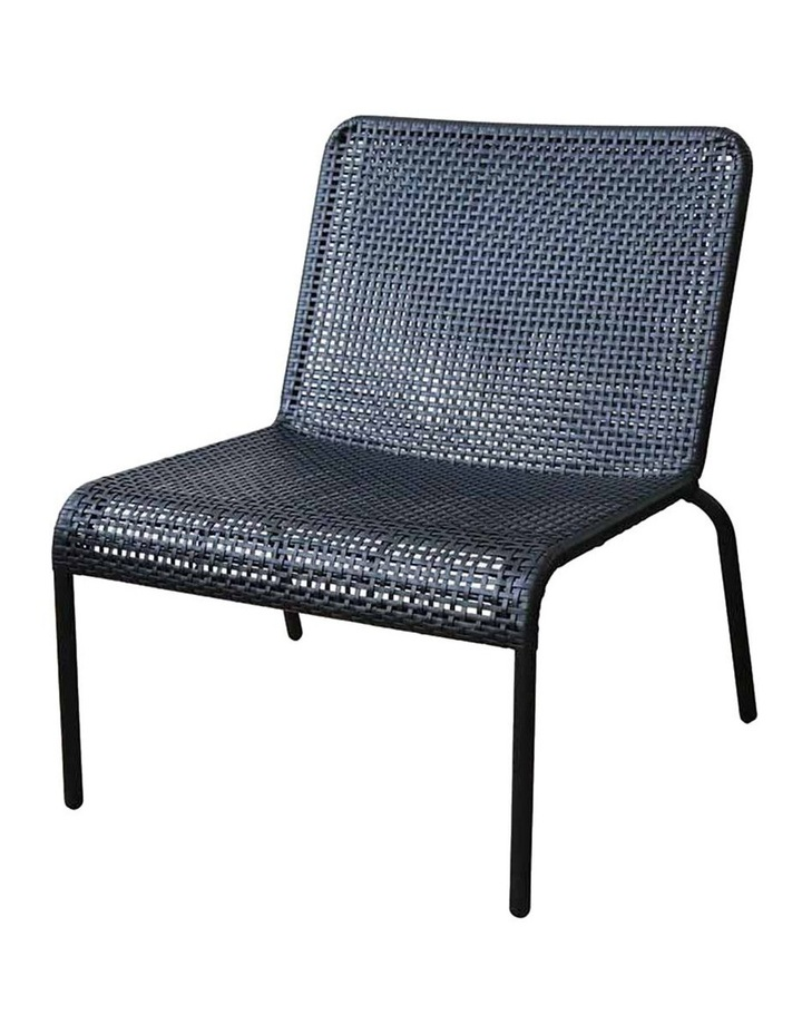 Kennedy Black Lounge Chair W70x70xh75.5cm image 1