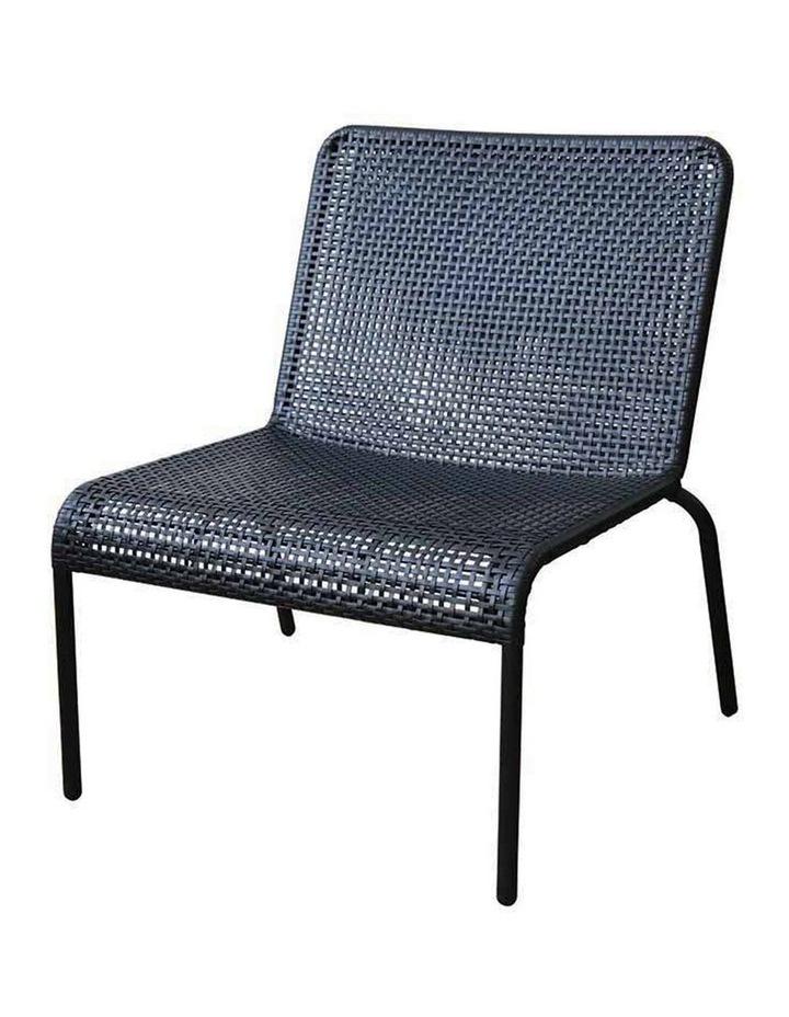 Kennedy Black Lounge Chair W70x70xh75.5cm