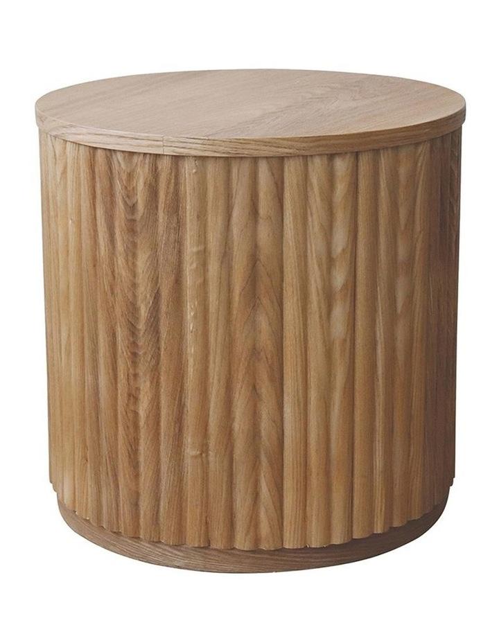 Sanctuary Oak Ribbed Side Table D45x45cm image 1