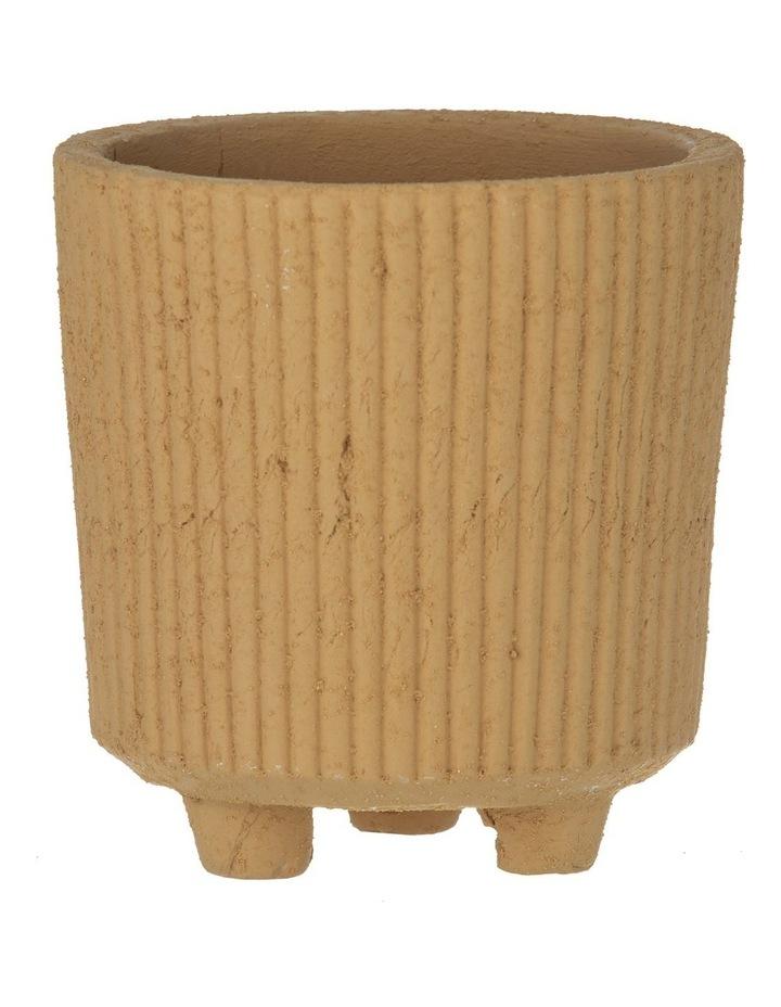 Aurora Pot Mustard 18.5x17.5x17.5cm image 1