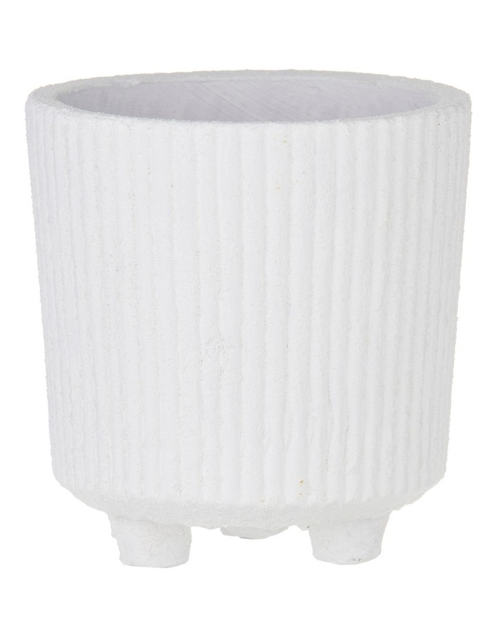 Aurora Pot White 18.5x17.5x17.5cm image 1
