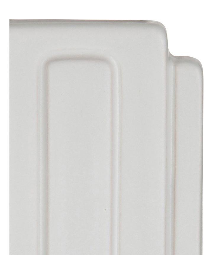 Chrysler Vessel  Matte White Earthenware/Glaze image 2