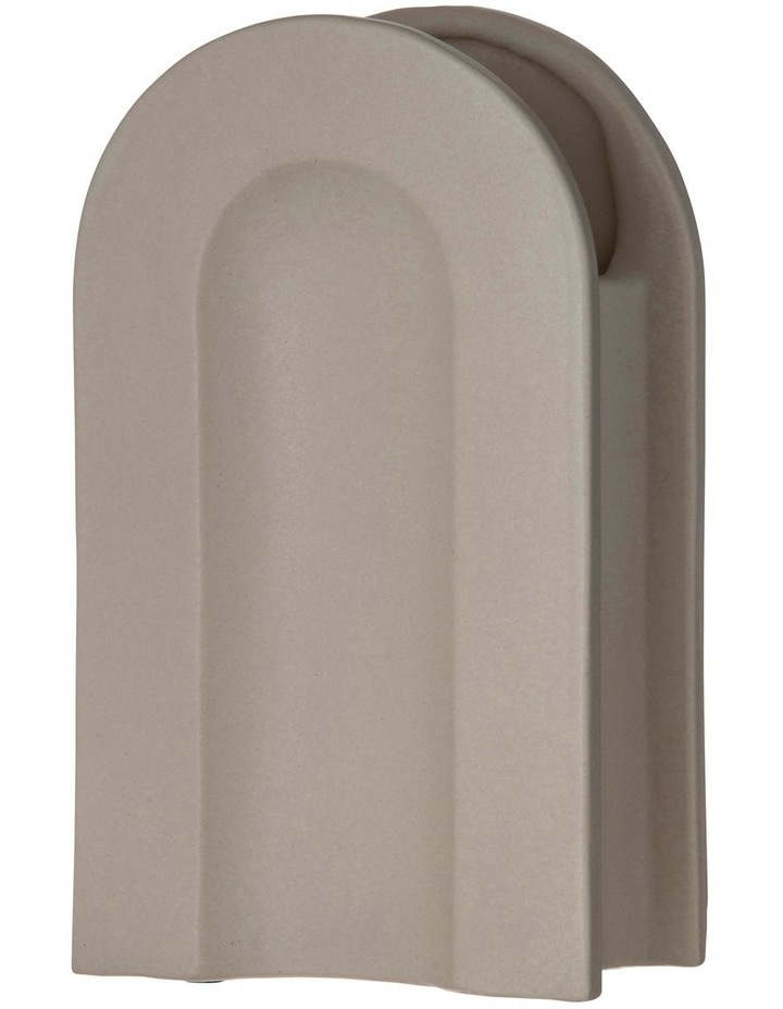 Arco Vessel 16x9x28cm Matte Beige Earthenware/Glaze image 1