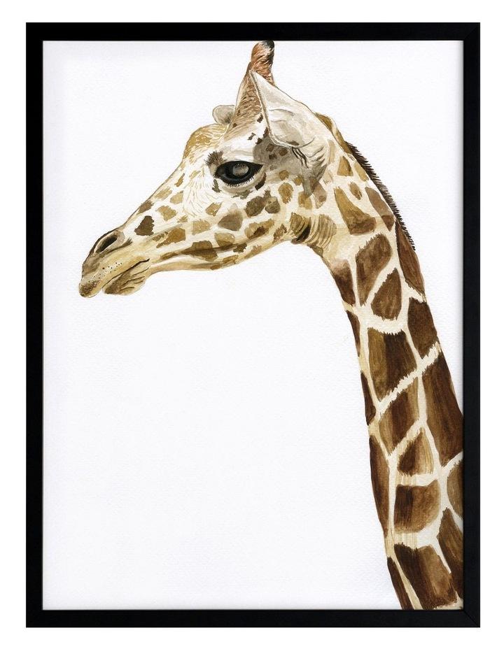 Giraffe I Print Black Frame image 1