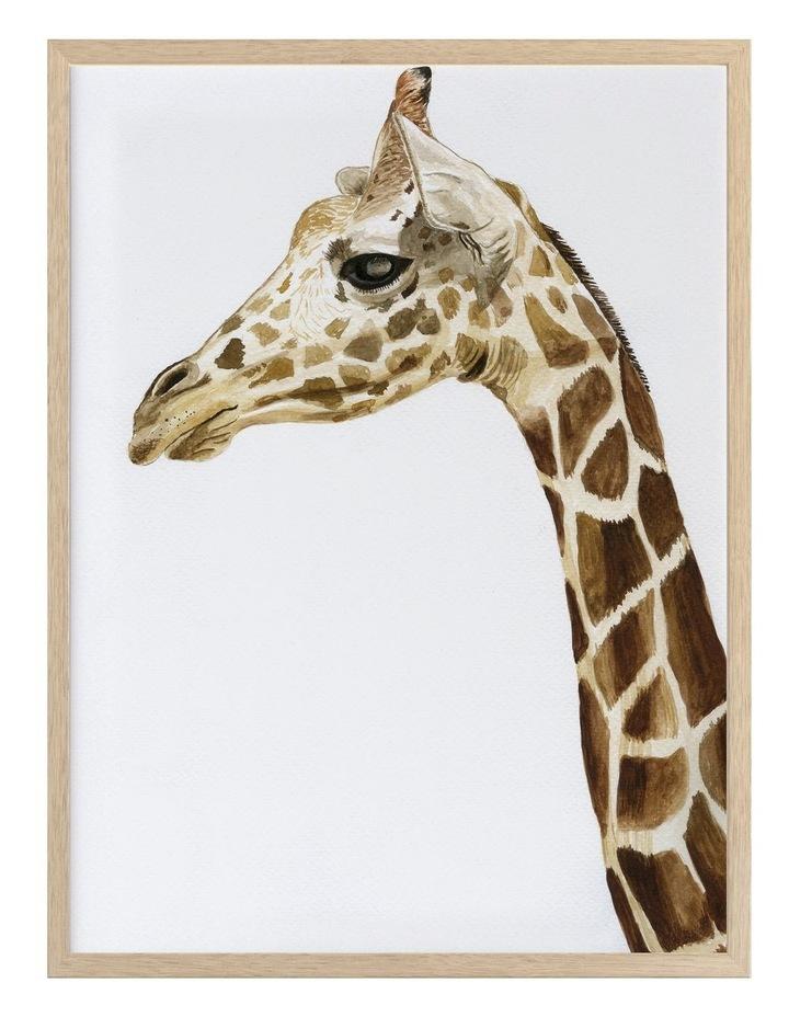 Giraffe I Print Oak Frame image 1