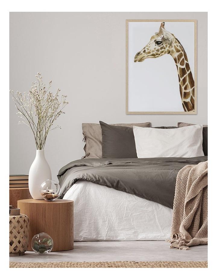 Giraffe I Print Oak Frame image 2