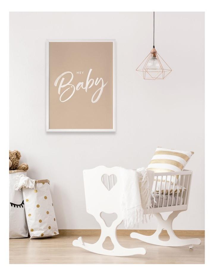 Hey Baby Print Black Frame image 2