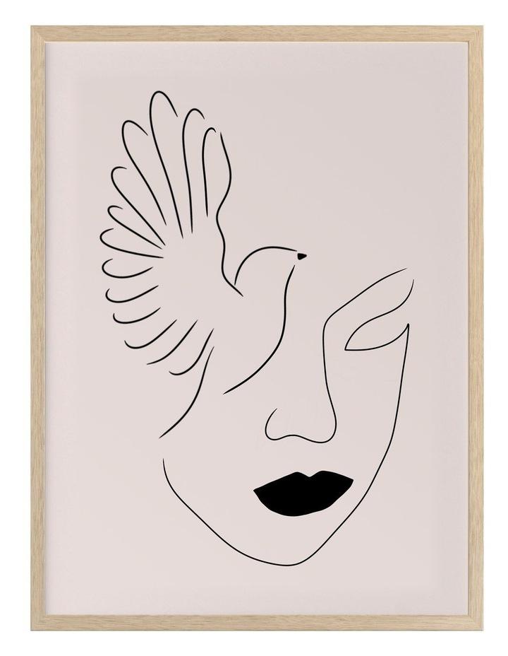 Lady Bird Print Oak Frame image 1