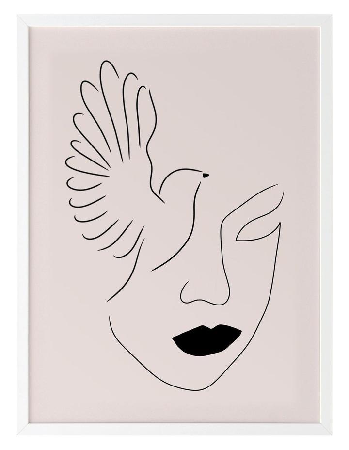 Lady Bird Print White Frame image 1
