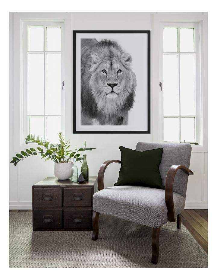 Lion Hunt Print Black Frame image 2