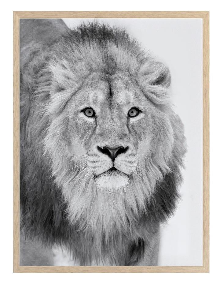 Lion Hunt Print Oak Frame image 1