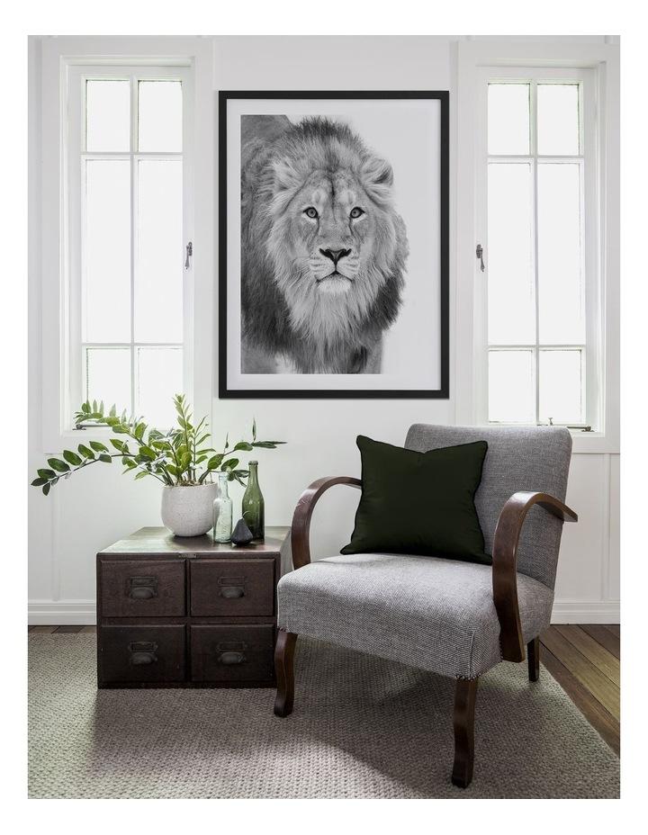 Lion Hunt Print White Frame image 2