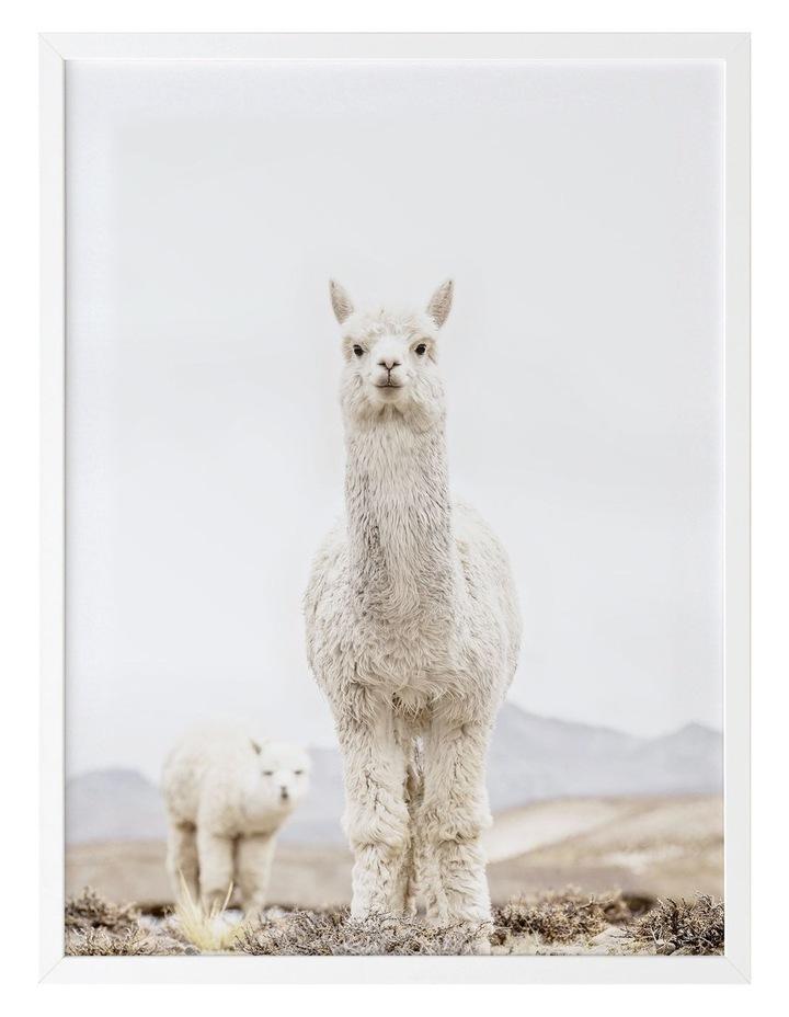 No Drama Llama White Frame image 1