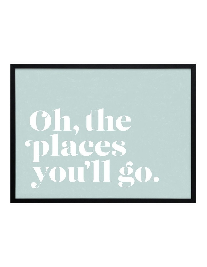 Oh The Places Black Frame image 1