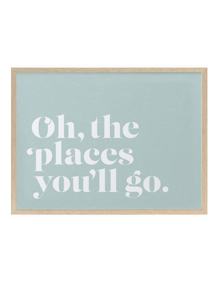 Oh The Places Oak Frame image 1