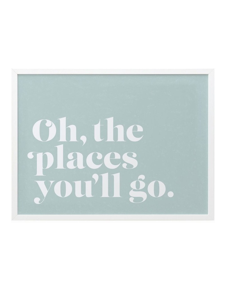 Oh The Places White Frame image 1