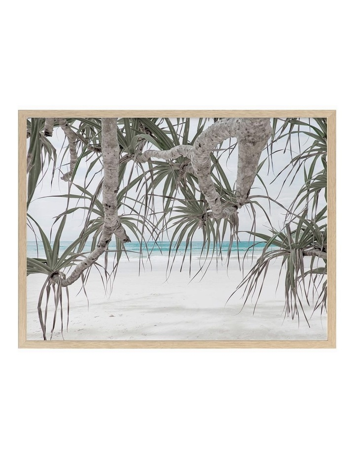 Pandanus II Print Oak Frame image 1