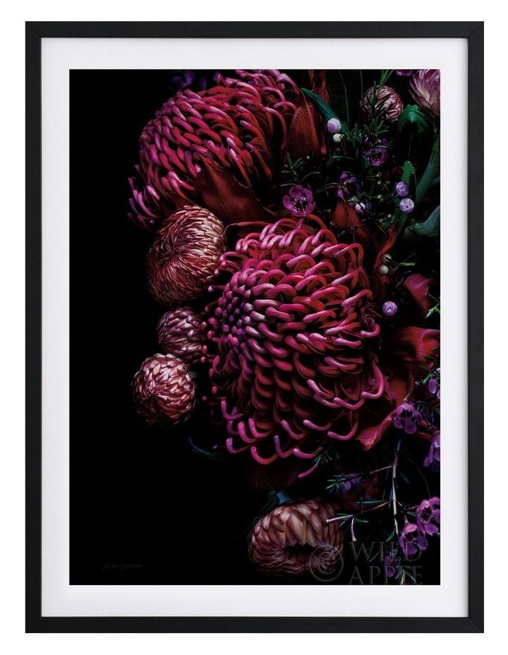 Waratah Bouquet Black Frame image 1