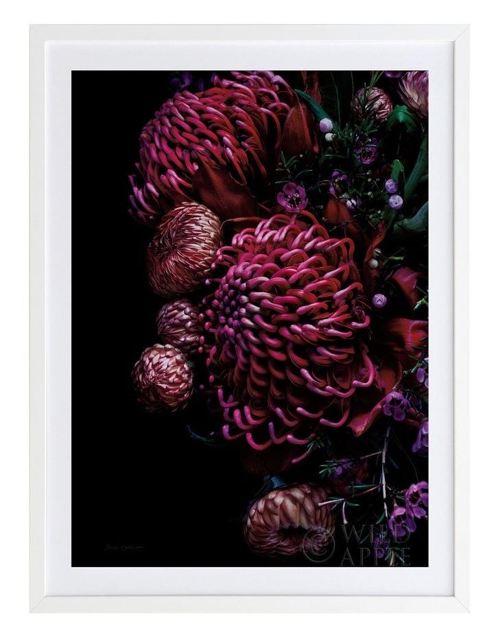 Waratah Bouquet White Frame image 1