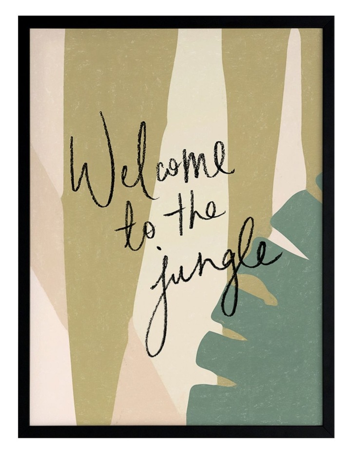 Welcome To The Jungle Black Frame image 1