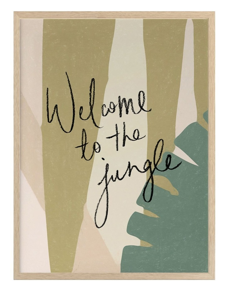 Welcome To The Jungle Oak Frame image 1