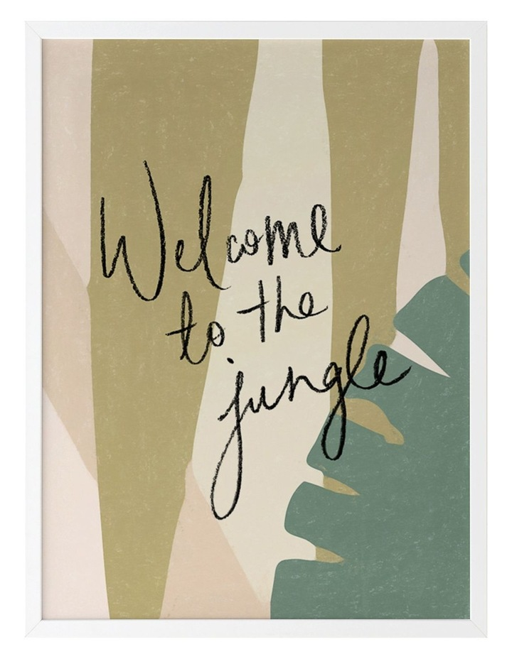 Welcome To The Jungle White Frame image 1
