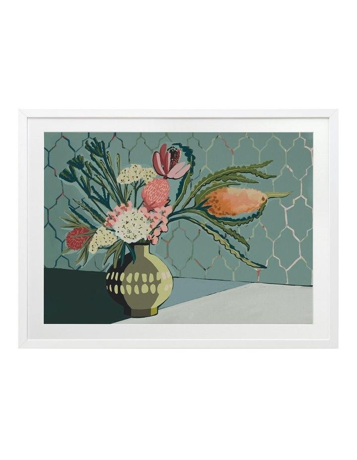 Bring Me Flowers Print White Frame image 1