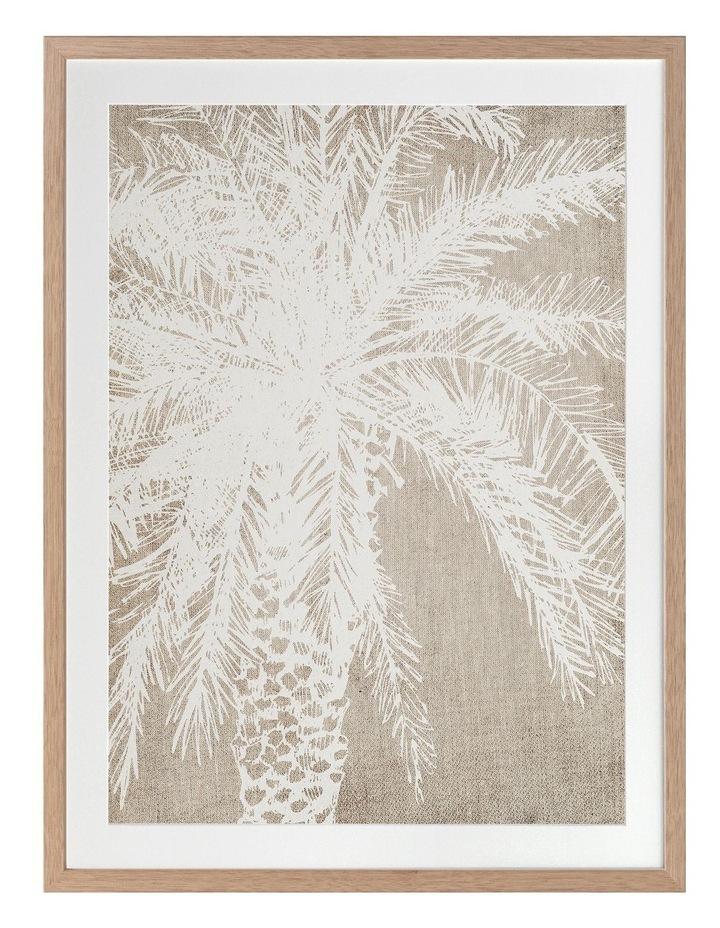 Canary Island I Print Oak Frame image 1