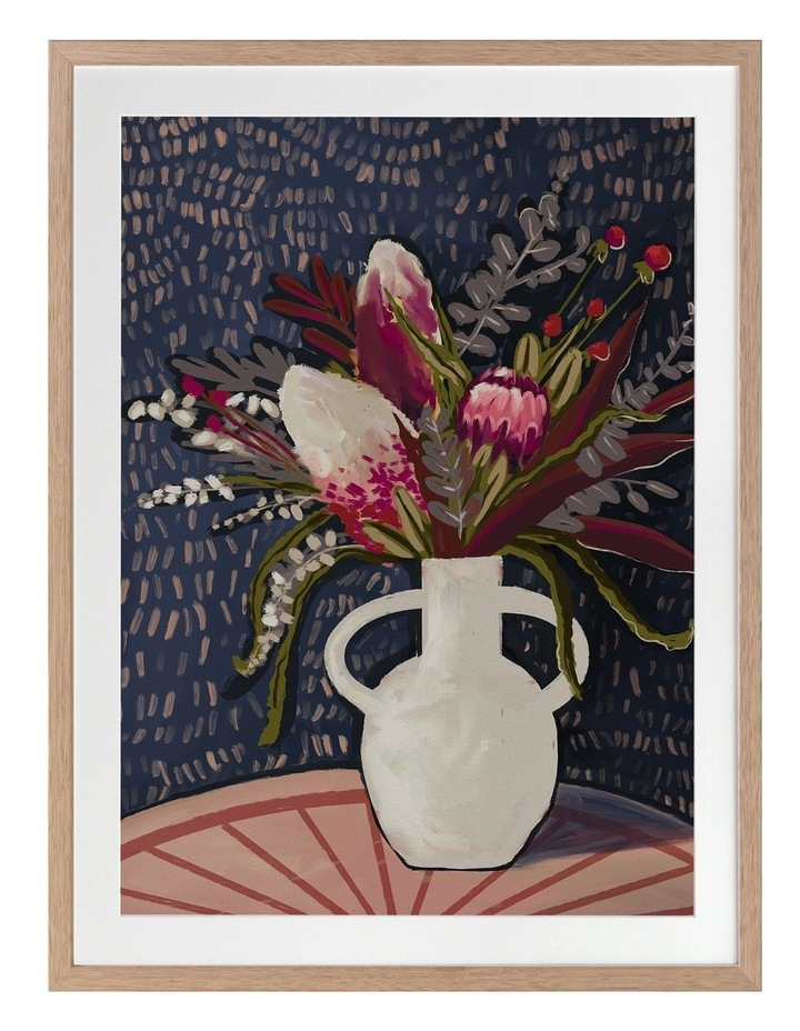 Flora Australis Print Oak Frame image 1