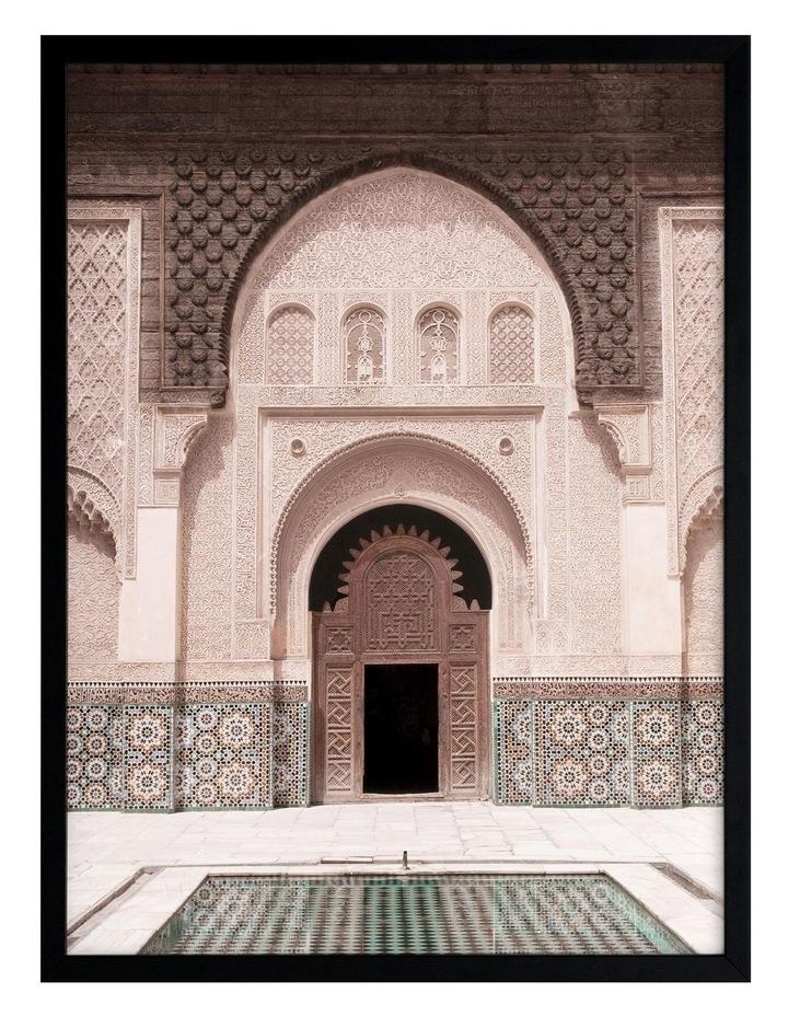 Moroccan Pool Print Black Frame image 1