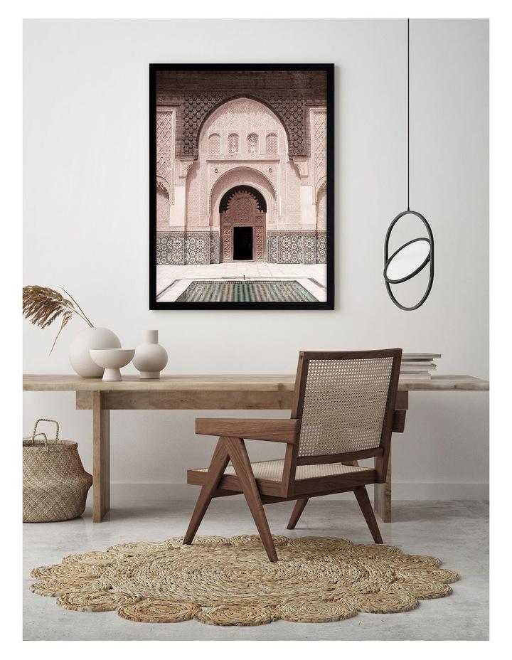 Moroccan Pool Print Black Frame image 2