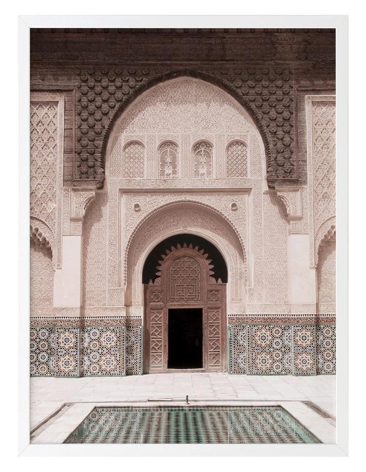 Moroccan Pool Print White Frame image 1