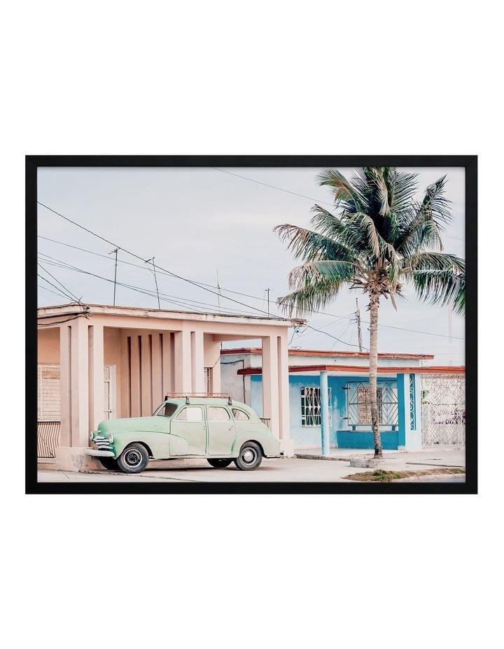 Pastel La Palma Print Black Frame image 1