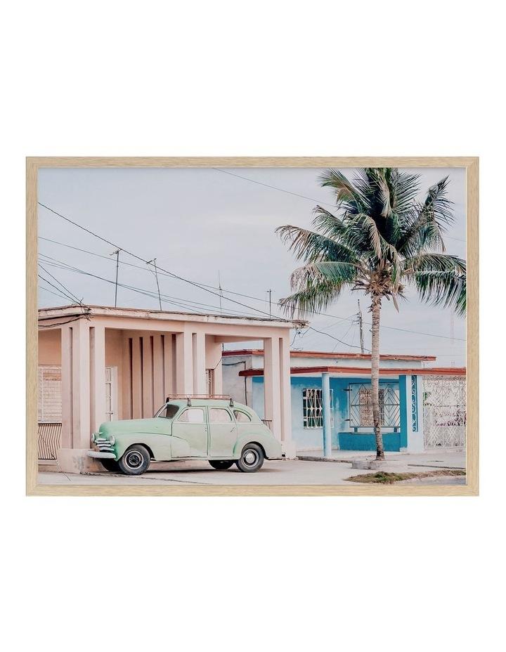 Pastel La Palma Print Oak Frame image 1