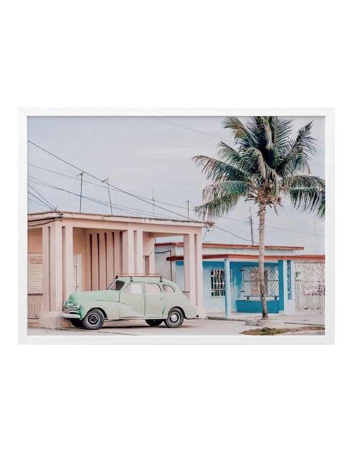 Pastel La Palma Print White Frame image 1