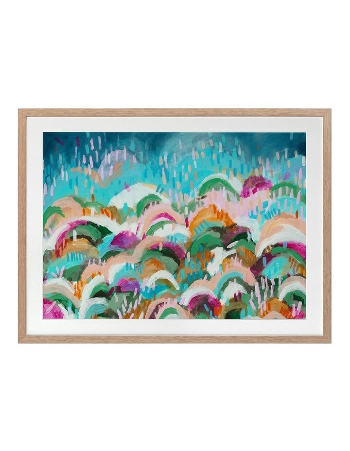 Rainbow Hills Print Oak Frame image 1