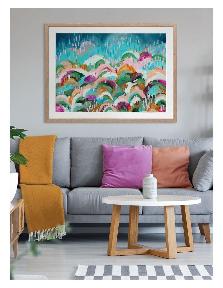 Rainbow Hills Print Oak Frame image 2