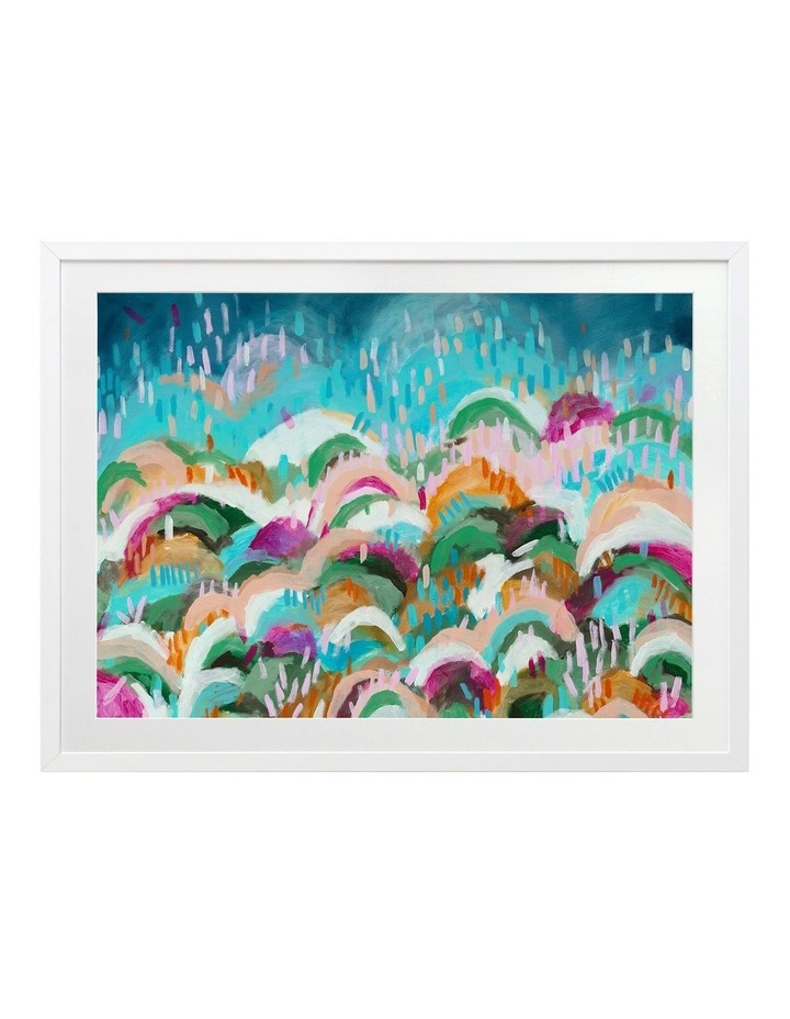 Rainbow Hills Print White Frame image 1