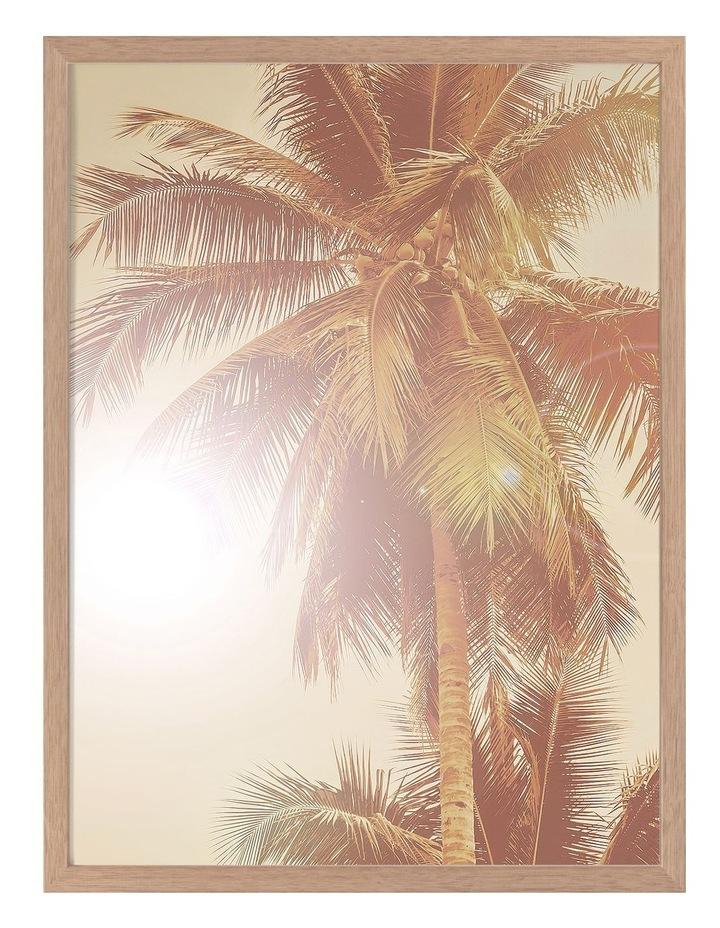 Sunkissed Palm Print Oak Frame image 1