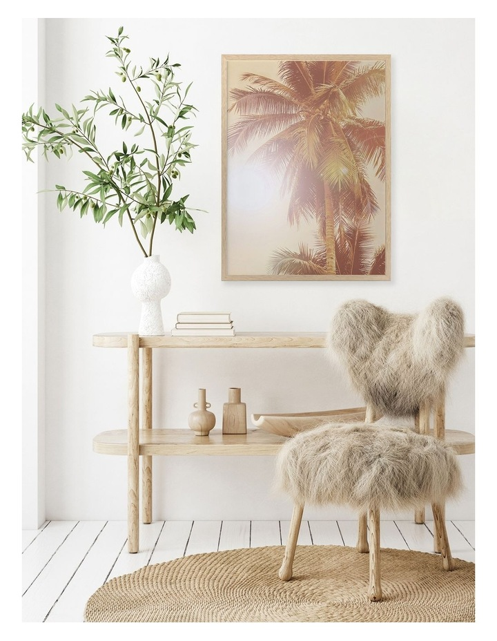 Sunkissed Palm Print Oak Frame image 2